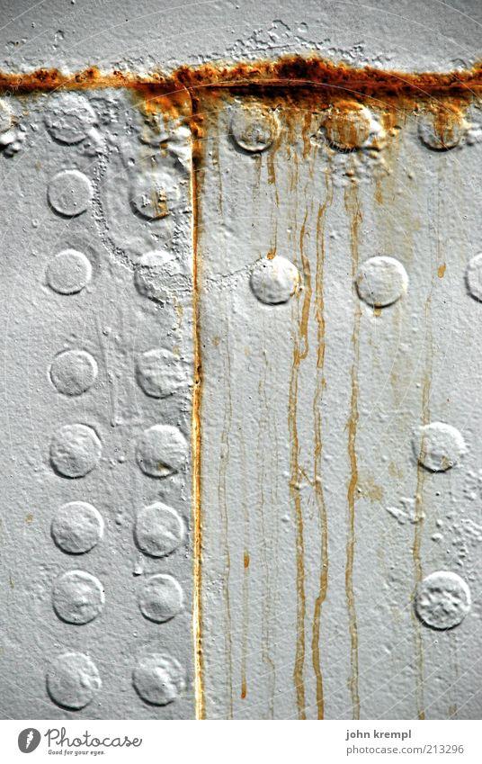 Old White Metal Logistics Broken Transience Steel Decline Trashy Rust Navigation Patch Nostalgia Varnish Copy Space Rivet