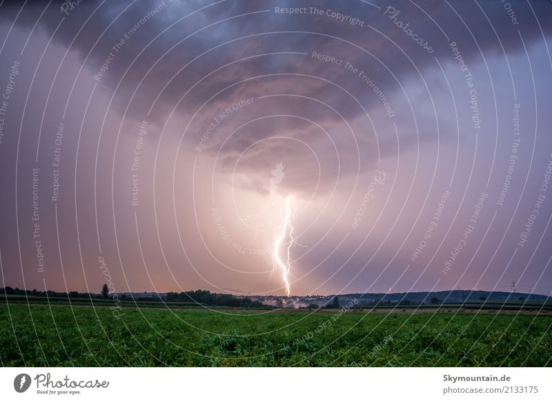 high voltage Environment Nature Landscape Clouds Storm clouds Night sky Summer Autumn Climate Climate change Weather Beautiful weather Bad weather Wind Gale