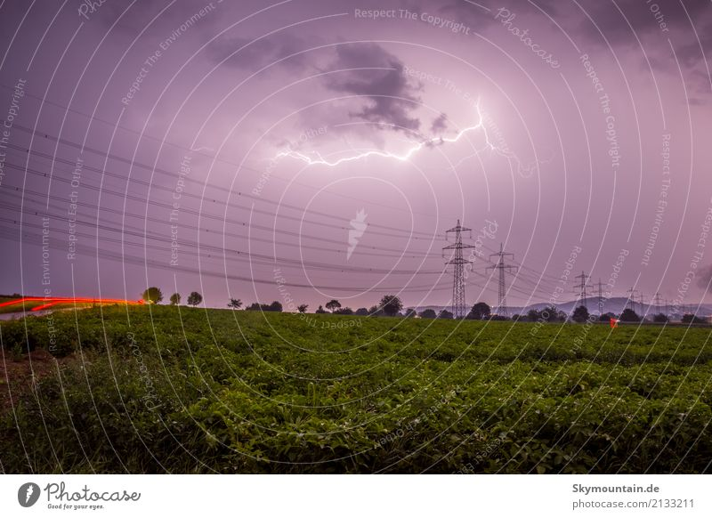 thunderstorm current Environment Nature Landscape Sky Clouds Storm clouds Night sky Spring Summer Autumn Climate Climate change Weather Beautiful weather