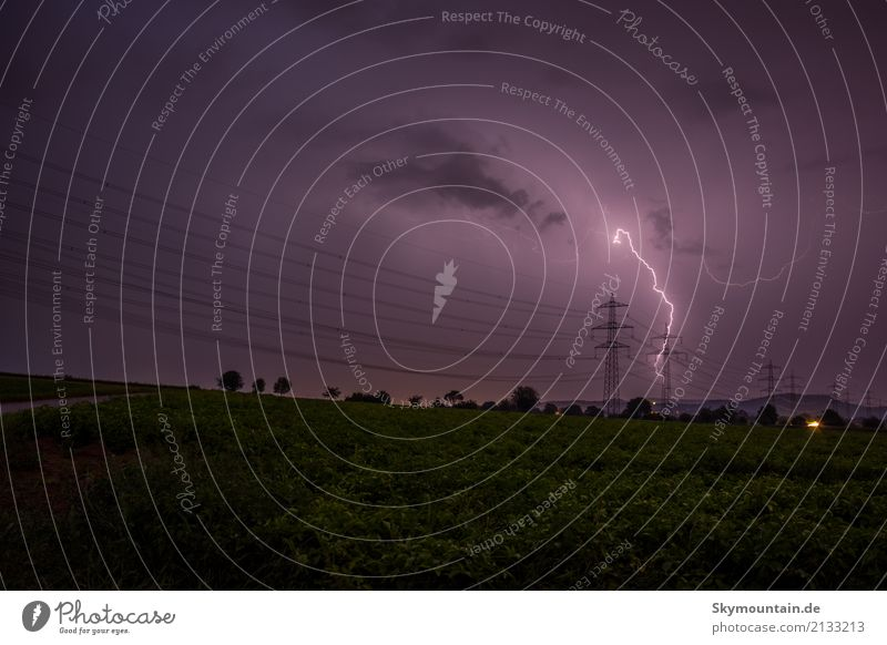 high-voltage line Environment Nature Landscape Clouds Storm clouds Night sky Summer Autumn Climate Climate change Weather Beautiful weather Bad weather Wind