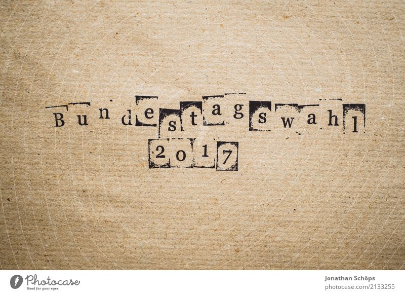 Bundestag election 2017 Resolve Text Select Elections Decide Indecisive Typography Characters Wood Stamp Parties Important Definite Parliament Government