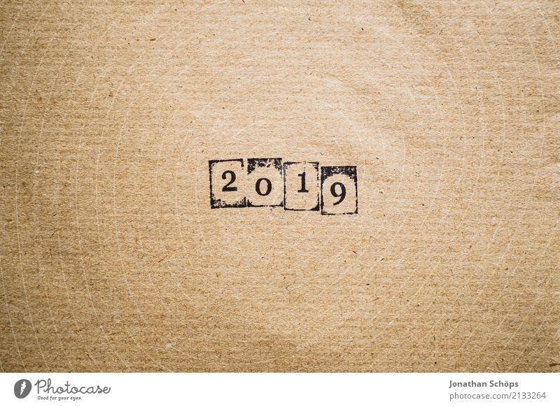 2019 Stationery Future Text Background picture Typography Paper Minimalistic Pistil Brown Wrapping paper Year Year date Calendar Forward-looking