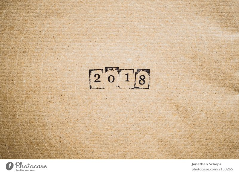 2018 Stationery Future Text Background picture Typography Paper Minimalistic Pistil Brown Wrapping paper Year Year date Calendar Forward-looking