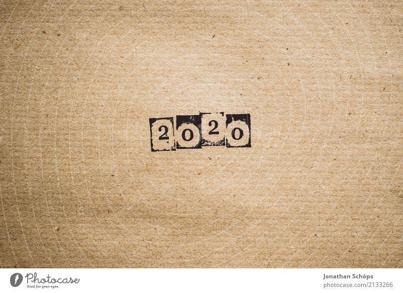 2020 Stationery Future Text Background picture Typography Paper Minimalistic Pistil Brown Wrapping paper Year Year date Calendar Forward-looking