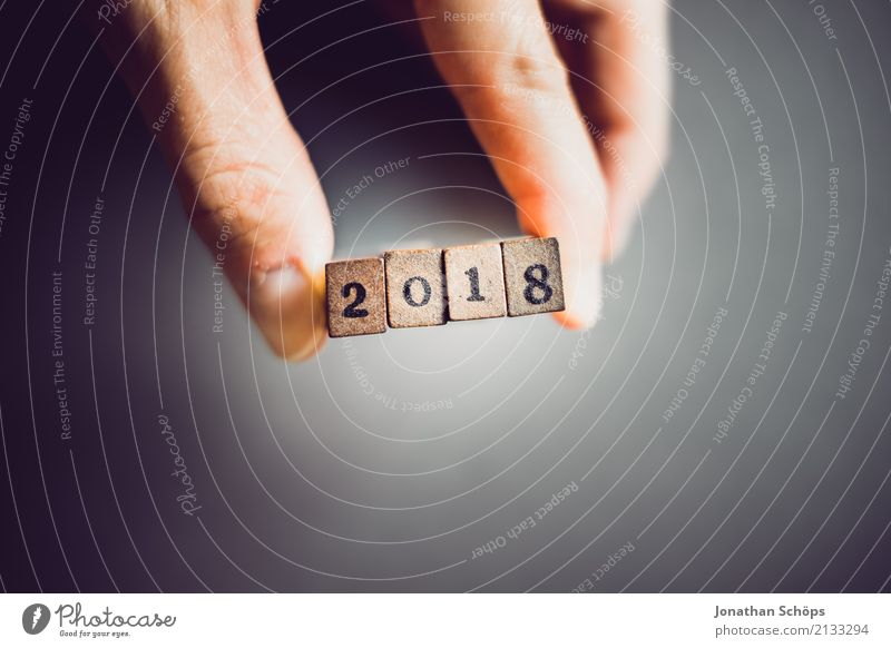Hand Wood Feasts & Celebrations Characters Beginning Future Digits and numbers Target To hold on New Typography New Year's Eve Text Stamp Decide Present Day