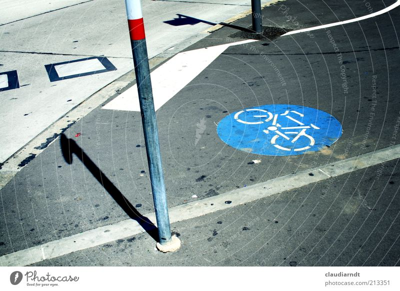 City Street Bicycle Dirty Road traffic Concrete Ground Asphalt Signage Traffic infrastructure Patch Pole Crossroads Section of image Orientation Pictogram