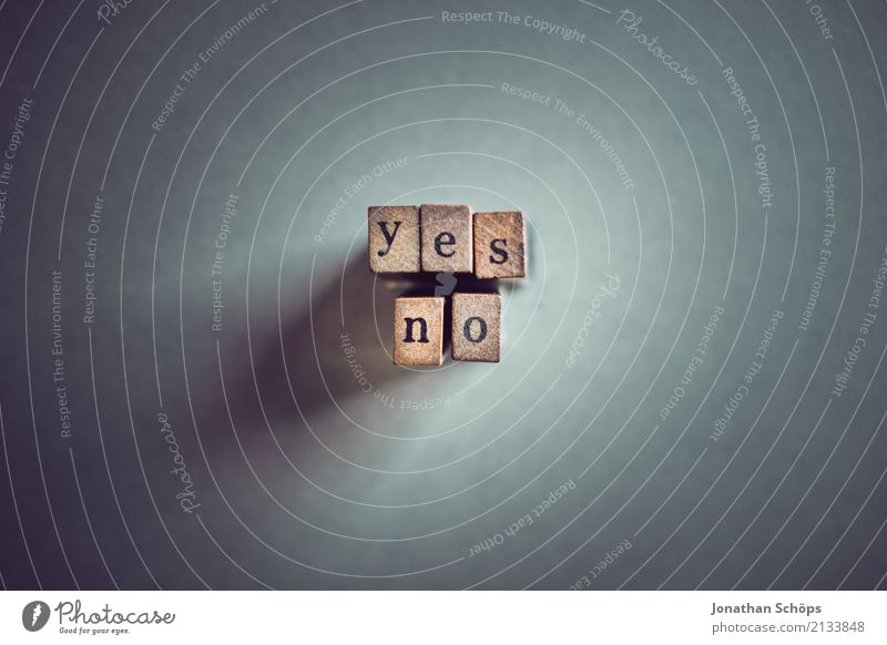 yes no Resolve Text Select Elections Decide Indecisive Typography Characters Wood Stamp Parties Important Definite Parliament Government Democracy Democratic