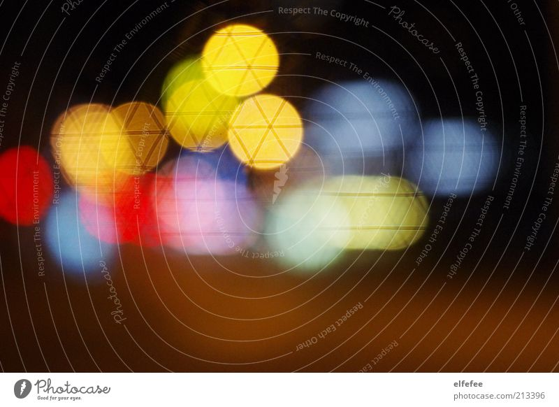 Far-off places Art Background picture Illuminate Visual spectacle Unclear Light Multicoloured Point of light Patch of colour Night Play of colours Prismatic colors Patch of light