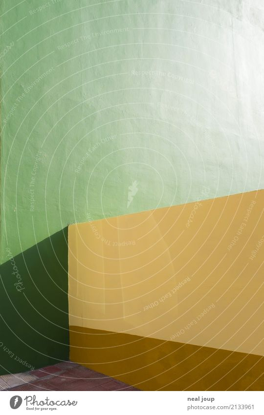 Green Yellow Wall (building) Wall (barrier) Design Esthetic Arrangement Minimalistic