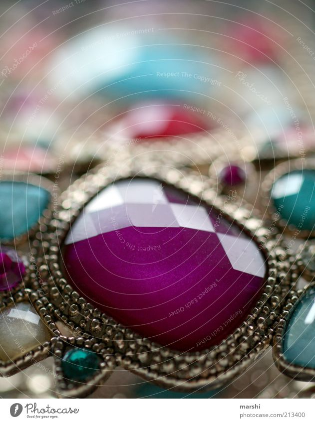 piece of jewellery Glass Sharp-edged Elegant Violet Jewellery Bangle Accessory Old Glittering Colour photo Blur Shallow depth of field Ground down