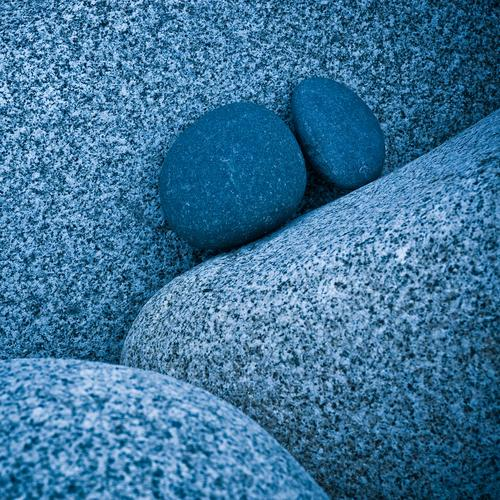 stones make blue Rock Granite Stone Blue Bizarre Colour Contact Stagnating Attachment In pairs Narrow Inseparable Firm Middle Upward Round Stony Together