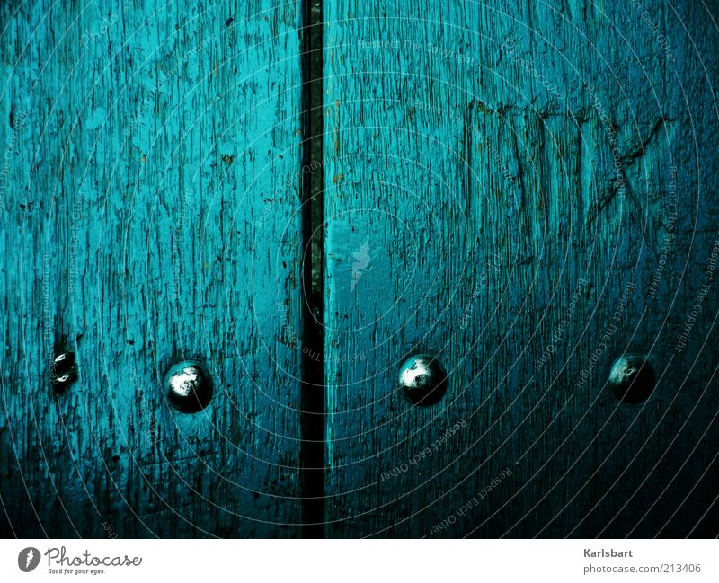 MIIX. Style Wood Metal Sign Characters Digits and numbers Crucifix Line Blue Rivet Medieval times Colour photo Exterior shot Close-up Detail Experimental