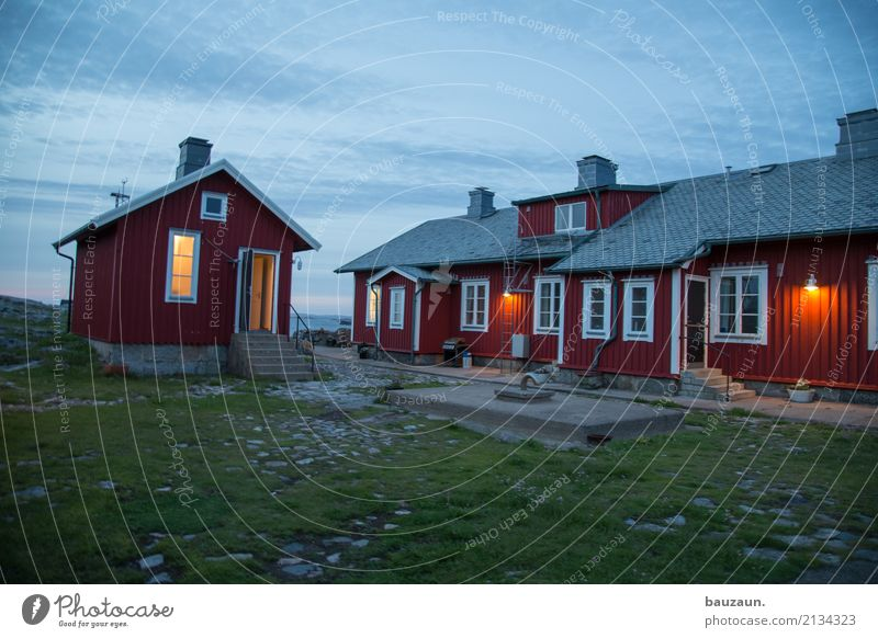 Sky Nature Vacation & Travel Beautiful Red House (Residential Structure) Window Architecture Wall (building) Grass Building Wall (barrier) Tourism Moody Facade