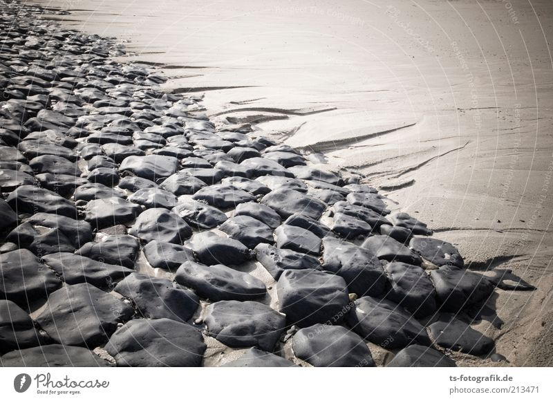 Nature Summer Beach Vacation & Travel Black Dark Stone Lanes & trails Sand Line Brown Coast Safety Island Protection Natural