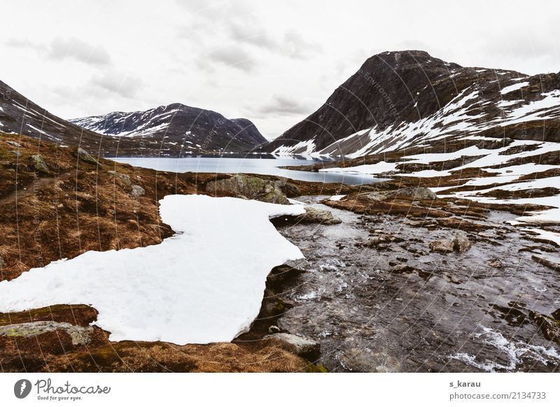 glacial landscape Vacation & Travel Adventure Freedom Expedition Snow Mountain Hiking Nature Elements Water Rock Peak Snowcapped peak Glacier Lake Dalsnibba