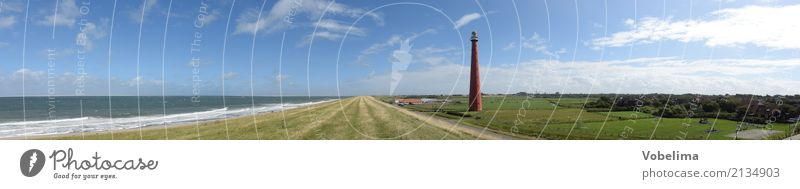 Lighthouse of Den Helder Environment Nature Landscape Water Sky Clouds Summer Coast North Sea Ocean The Hero Netherlands Europe Deserted Tourist Attraction
