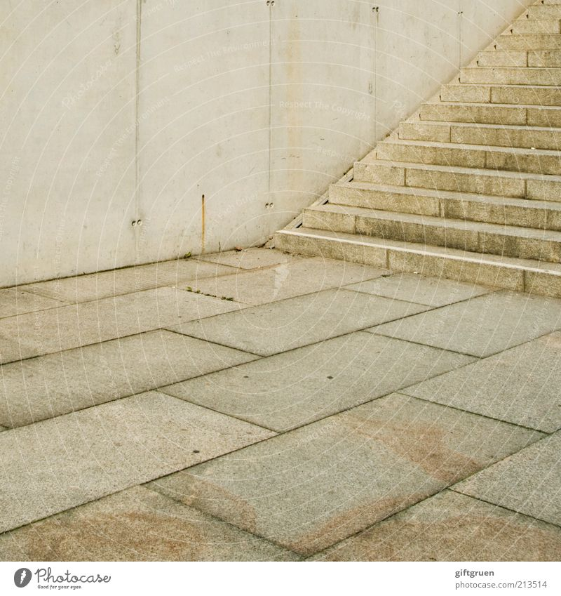 City Cold Wall (building) Wall (barrier) Building Architecture Concrete Stairs Modern Arrangement Gloomy Ground Floor covering Manmade structures