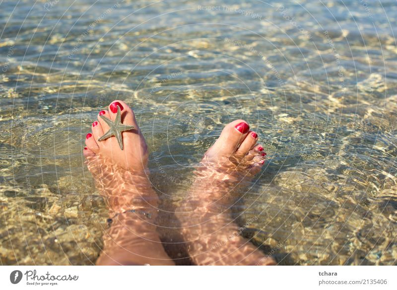 Relax Woman Nature Blue Summer Colour Beautiful Ocean Relaxation Beach Adults Natural Feet Sand Design Decoration Idyll