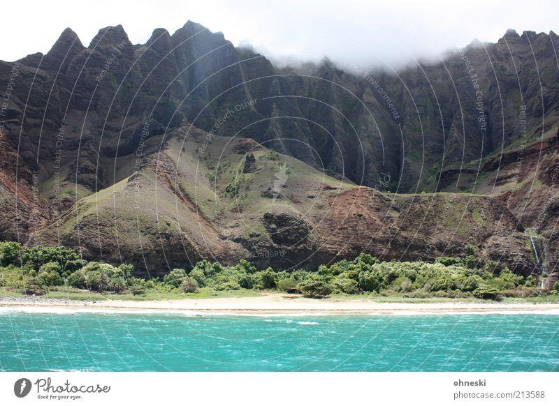 Water Sky Ocean Beach Mountain Stone Landscape Power Coast Waves Rock Earth Island Bushes Wild Hill