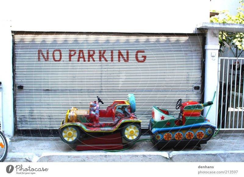 Street Playing Lanes & trails Car Funny Facade Signage Toys Motor vehicle Driving Motoring Parking Children's game Road sign Road sign Warning sign