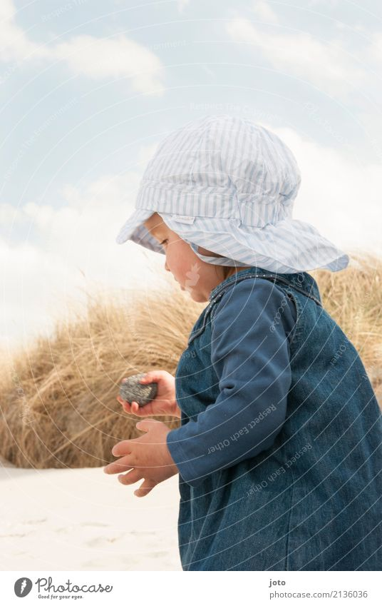 Child Nature Vacation & Travel Summer Beach Life Playing Freedom Stone Sand Trip Infancy Idyll Adventure Study Discover