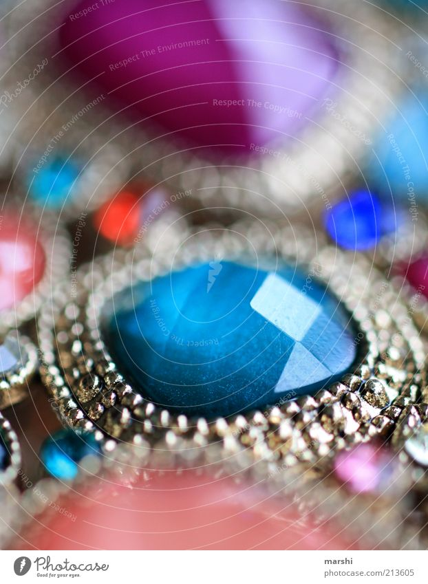 bling Luxury Elegant Style Blue Multicoloured Jewellery Stone Bangle Glittering Noble Glamor Colour photo Blur Reflection Silver Silver jewelry Precious