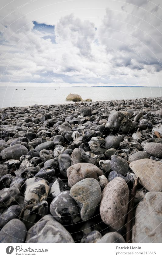 sea of stones Environment Nature Landscape Elements Earth Water Sky Clouds Summer Climate Climate change Weather Wind Rain Rock Waves Coast Beach Baltic Sea