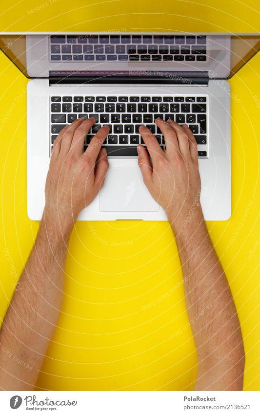 #AS# working VIII Art Esthetic Keyboard Keyboard shortcut Yellow Work and employment Workplace Working equipment Work break Workaholic Chat Write Writing