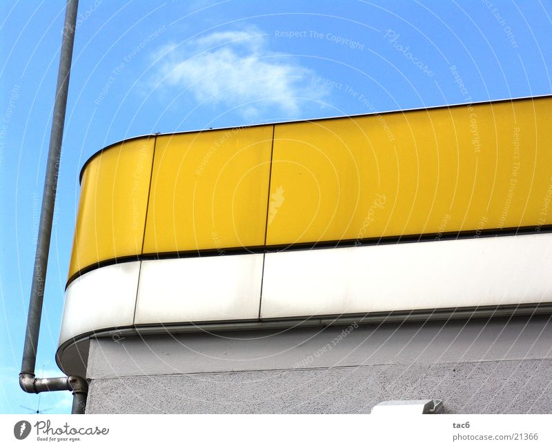 wow yellow Yellow Dusty Building Round Wall (barrier) Photographic technology wise Dirty Sky Derelict