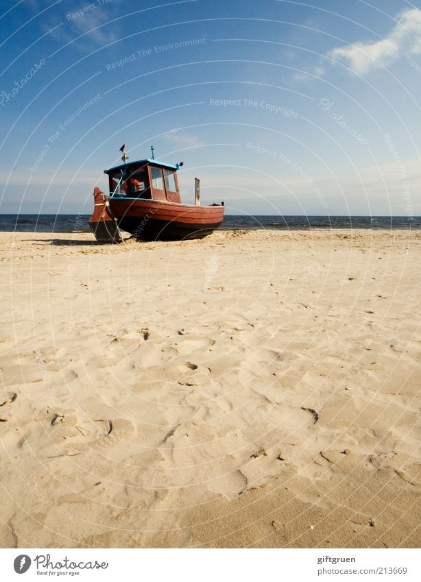 Sky Old Water Ocean Beach Clouds Environment Landscape Sand Coast Waves Elements Tracks Profession Catch Baltic Sea
