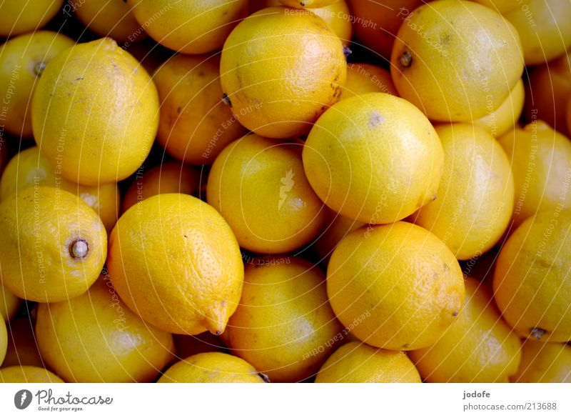 Yellow Healthy Food Fruit Multiple Round Many Exotic Vitamin Lemon Sour