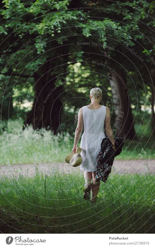 #A# Day in the park Environment Nature Landscape Esthetic Picnic Trip Destination Relaxation Recreation area Green Meadow Dress Woman Walking Lanes & trails