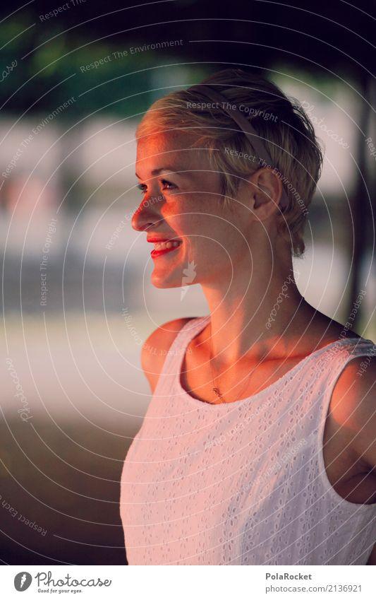 #A# decent 1 Human being Esthetic Laughter Smiling Friendliness Positive Woman Face of a woman Dress White Avenue Dresden Brühlsche Terrasse Summer