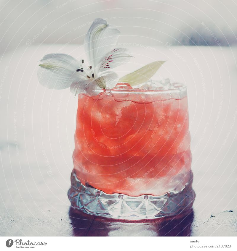 buzzer drink Beverage Cold drink mocktail Glass Esthetic Elegant Exotic Fluid Sweet Pink White Contentment Vacation & Travel Melon tonic Summer Lily Ice Fruity
