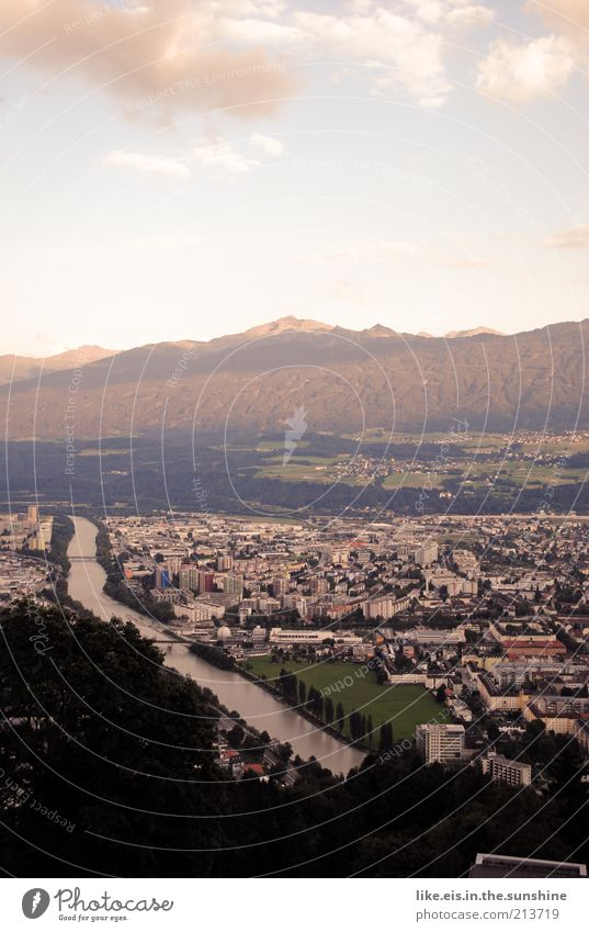 Innsbruck Relaxation Calm Vacation & Travel Tourism Trip Far-off places Freedom Summer Summer vacation Mountain Environment Nature Landscape Sky Clouds Horizon
