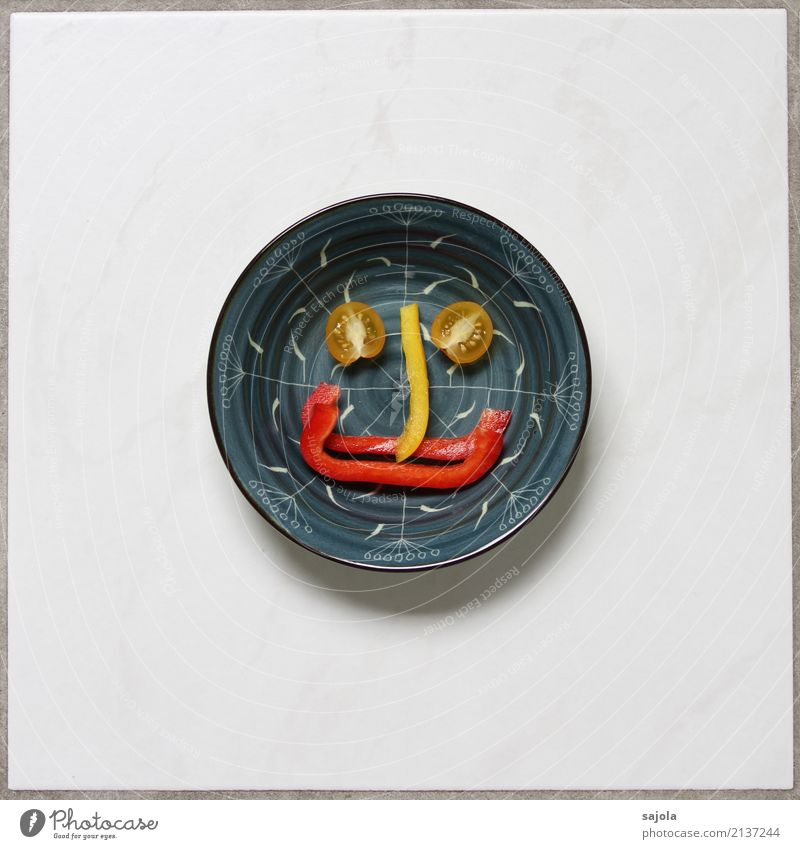 Blue Healthy Eating Red Joy Face Food photograph Eyes Yellow Emotions Happy Moody Contentment Nutrition Smiling Happiness