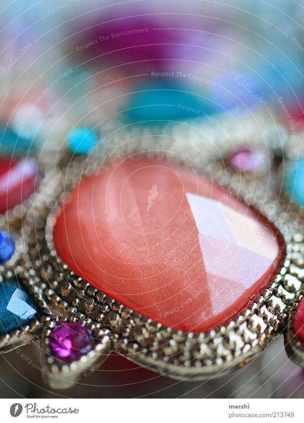 material girl Lifestyle Luxury Elegant Style Beautiful Multicoloured Stone Jewellery Glittering Bangle Noble Costume jewelry Blur Orange Accessory Colour photo