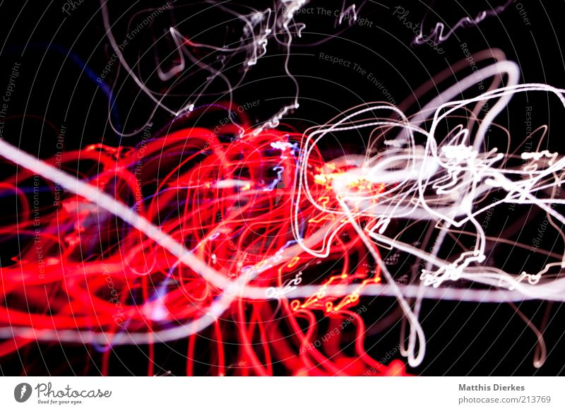 red white Graffiti Chaos Surrealism Visual spectacle Muddled Structures and shapes Colour photo Exterior shot Experimental Abstract Night