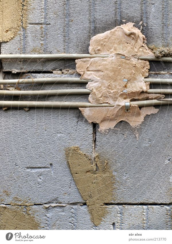 Wall (building) Gray Stone Wall (barrier) Electricity Cable Construction site To hold on Make Craft (trade) Plastic Build Redecorate Electronic Gypsum Sharp-edged