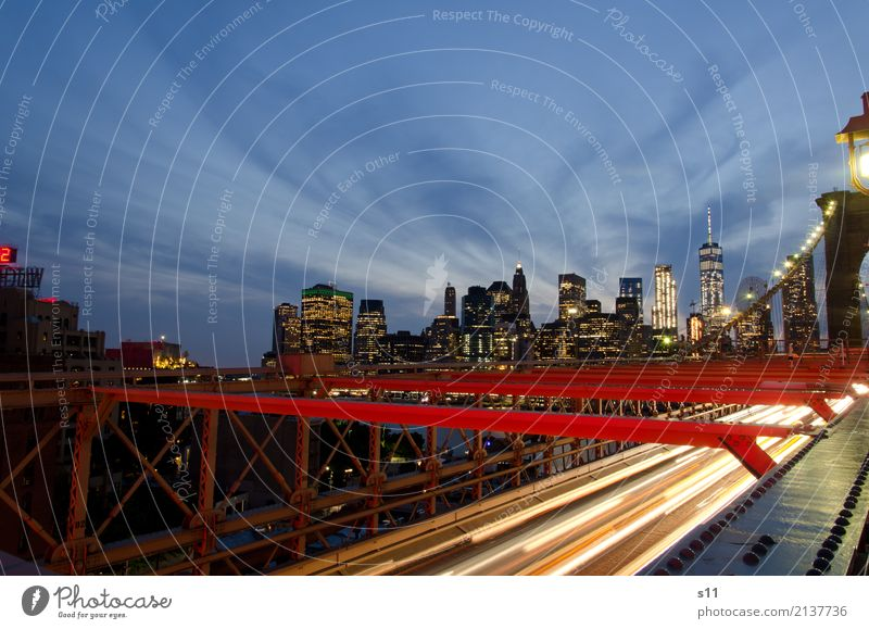 New York Skyline New York City Town Capital city Deserted House (Residential Structure) High-rise Bridge Building Architecture Tourist Attraction Landmark