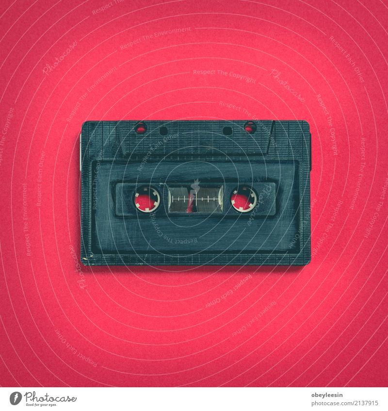 heart shape from cassette tape over paper background Playing Entertainment Music Technology Media Plastic Heart Old Listening Love Dirty Retro White Nostalgia