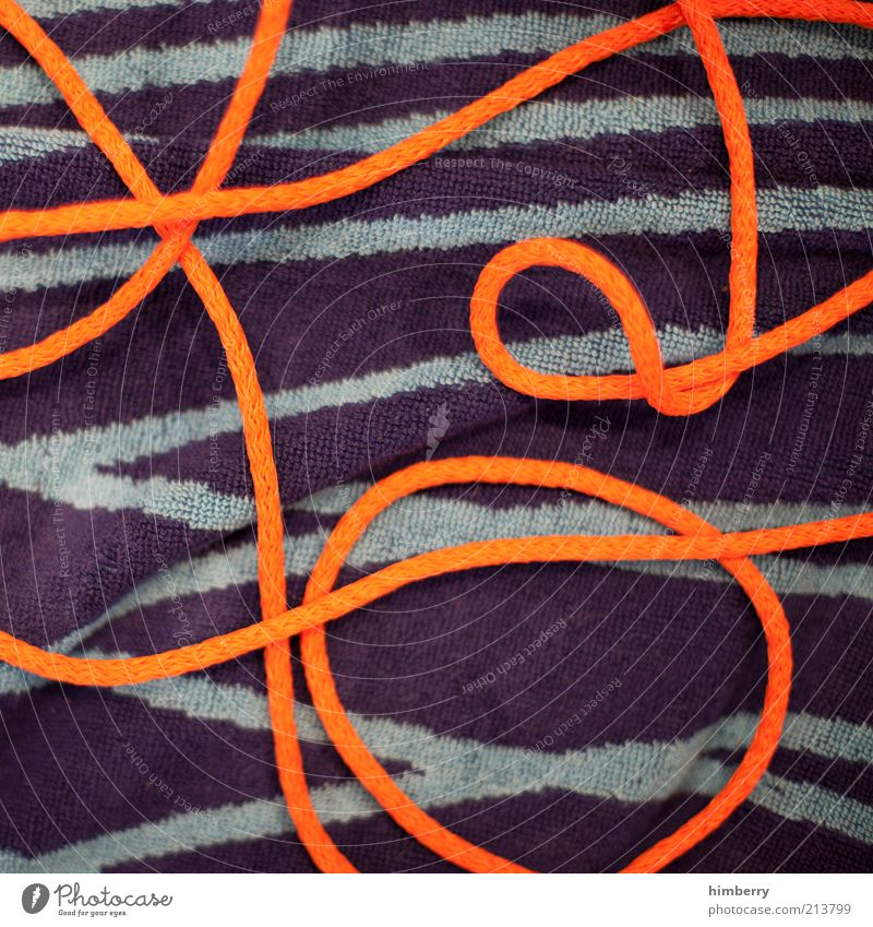 circulatory collapse Cloth Exceptional Hip & trendy Design Towel Terry cloth Rope String Orange Colour photo Multicoloured Abstract Pattern