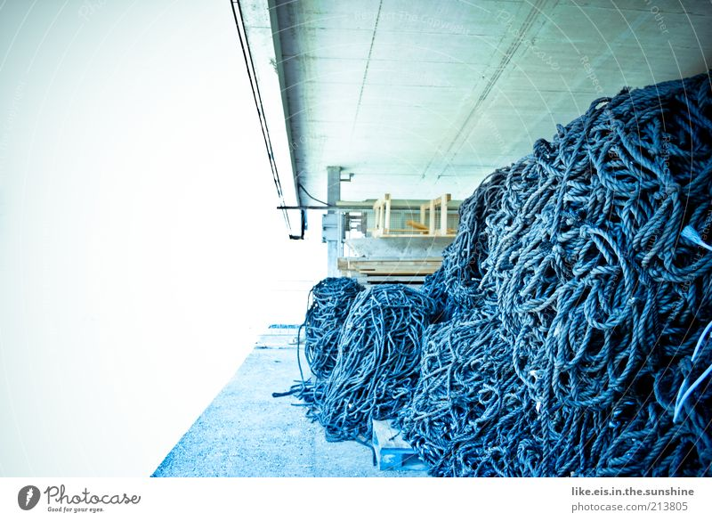 White Blue Concrete Rope Net String Discover Fishing (Angle) Knot Fishery Storage Hiding place Innsbruck Pulley