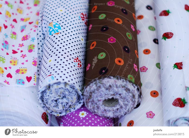 substance Decoration Sign Bright Multicoloured Pattern Infancy Childlike fabric rolls fabrics Cloth Cloth pattern Buttons Spotted Beautiful Colour photo