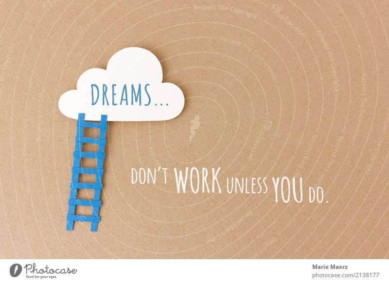 Blue Clouds Work and employment Dream Stairs Growth Esthetic Power Success Study Change Illustration Brave Inspiration Career Make