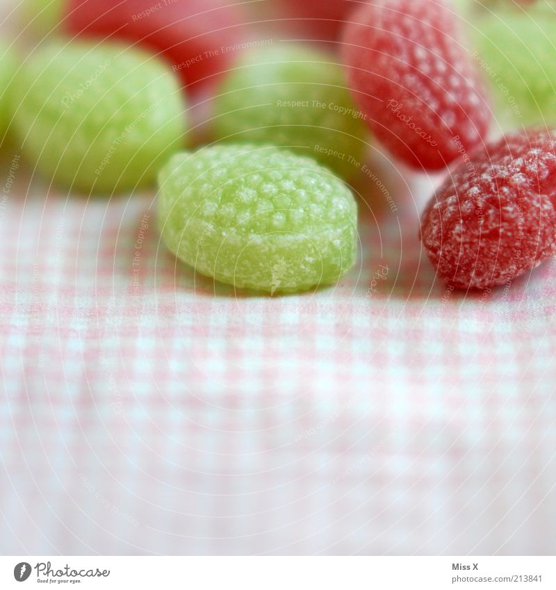 Green Nutrition Small Pink Food Sweet Round Cloth Delicious Appetite Candy Sugar Checkered Sour