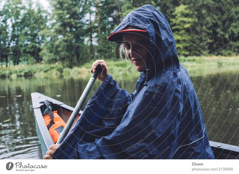 the little rain Leisure and hobbies Vacation & Travel Trip Adventure Summer vacation Canoe trip Young woman Youth (Young adults) 18 - 30 years Adults Nature