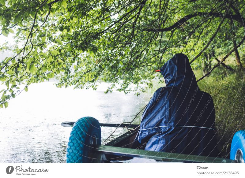 And we wait Leisure and hobbies Fishing (Angle) Vacation & Travel Adventure Expedition Summer vacation Canoe Young woman Youth (Young adults) 18 - 30 years