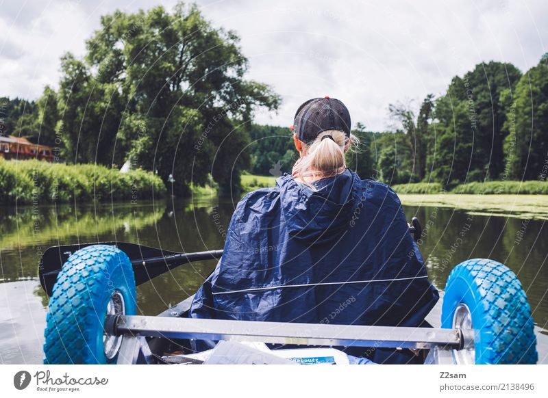 Now it can go on Leisure and hobbies Vacation & Travel Adventure Expedition Summer vacation Canoe Young woman Youth (Young adults) 18 - 30 years Adults Nature
