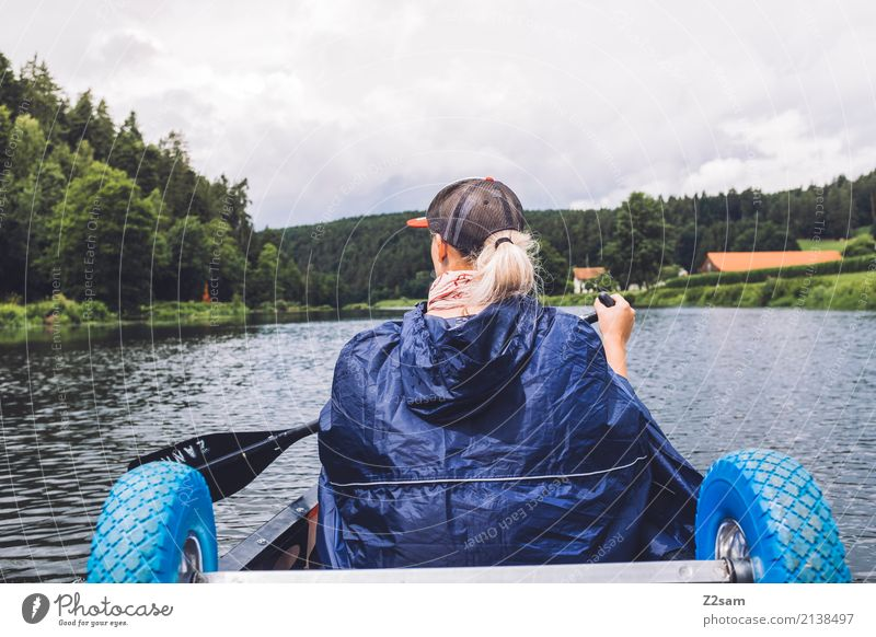 s.... stir Vacation & Travel Trip Adventure Freedom Expedition Summer vacation Canoe trip Young woman Youth (Young adults) 18 - 30 years Adults Nature Landscape